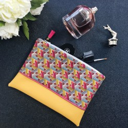 Pochette Moutarde Rose Wax