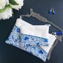 Ensemble Pochette Lise moyen modèle Fleurs Bleues