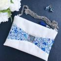 Pochette Julie Fleurs Bleues
