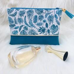 Pochette Tropical bleue
