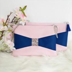 Rose Poudré - bleu roi