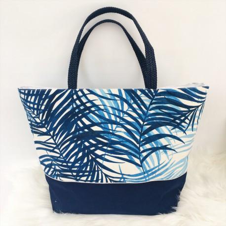 Grand sac cabas / Sac de Plage Tropiques bleus