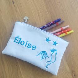 """Trousse Personnalisable blanche """"Etoiles"""""""