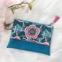 Pochette Dahlia bleue