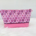 Grande Trousse/Pochette Rose Eventails