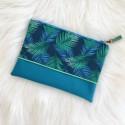 Pochette Bleue tropicale