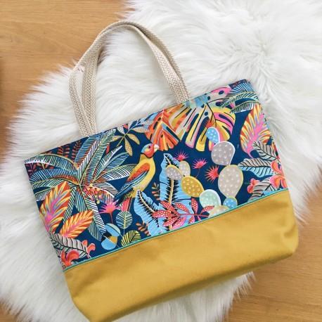 Grand sac cabas / Sac de Plage Tropical